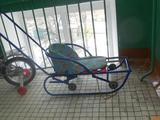 Санки с выдвижными колесами